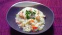 海老とエリンギのチーズリゾット